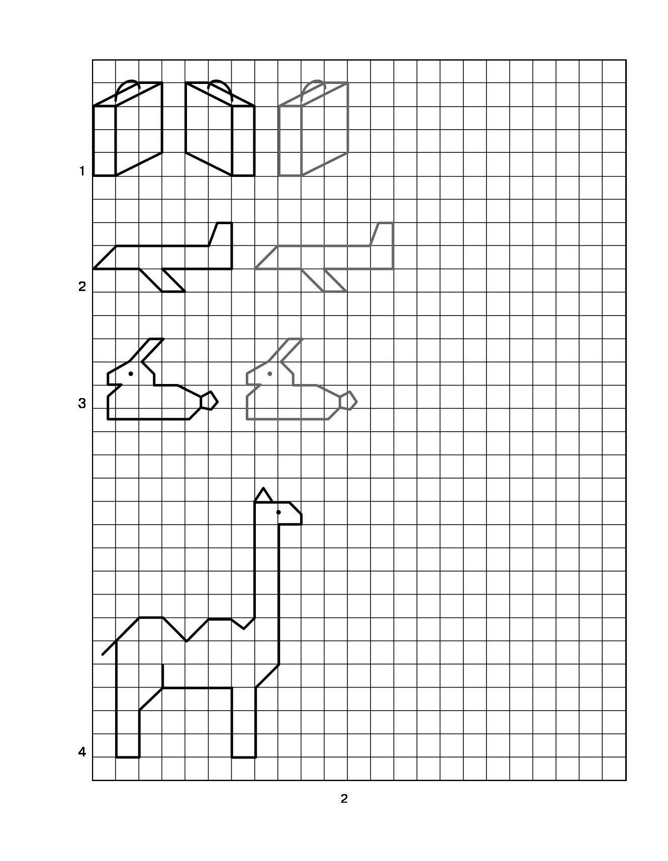 легкие рисунки по точкам в клетку