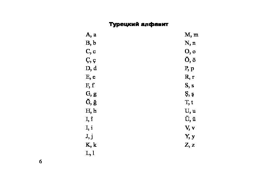 Турецкий алфавит картинка
