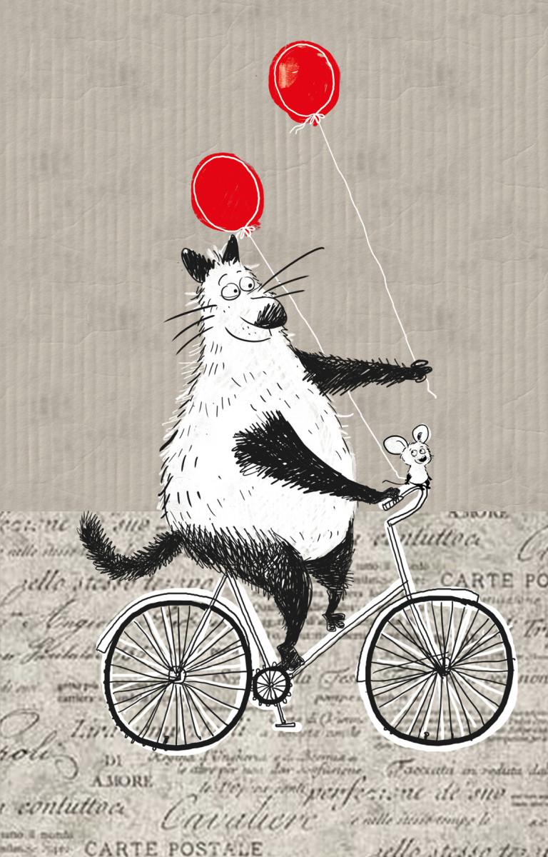 Купить Блокнот, поднимающий настроение (на велосипеде), Эксмо