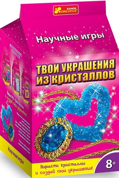 Купить Наборы для творчества Ранок, 9789-01 Прикраса з кристалів. Брошка і сердечко 12123010Р, Ранок Креатив