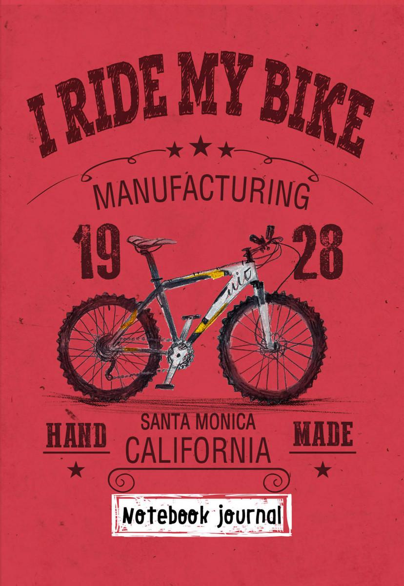 Купить Блокнот. I ride my bike. Красный, Эксмо