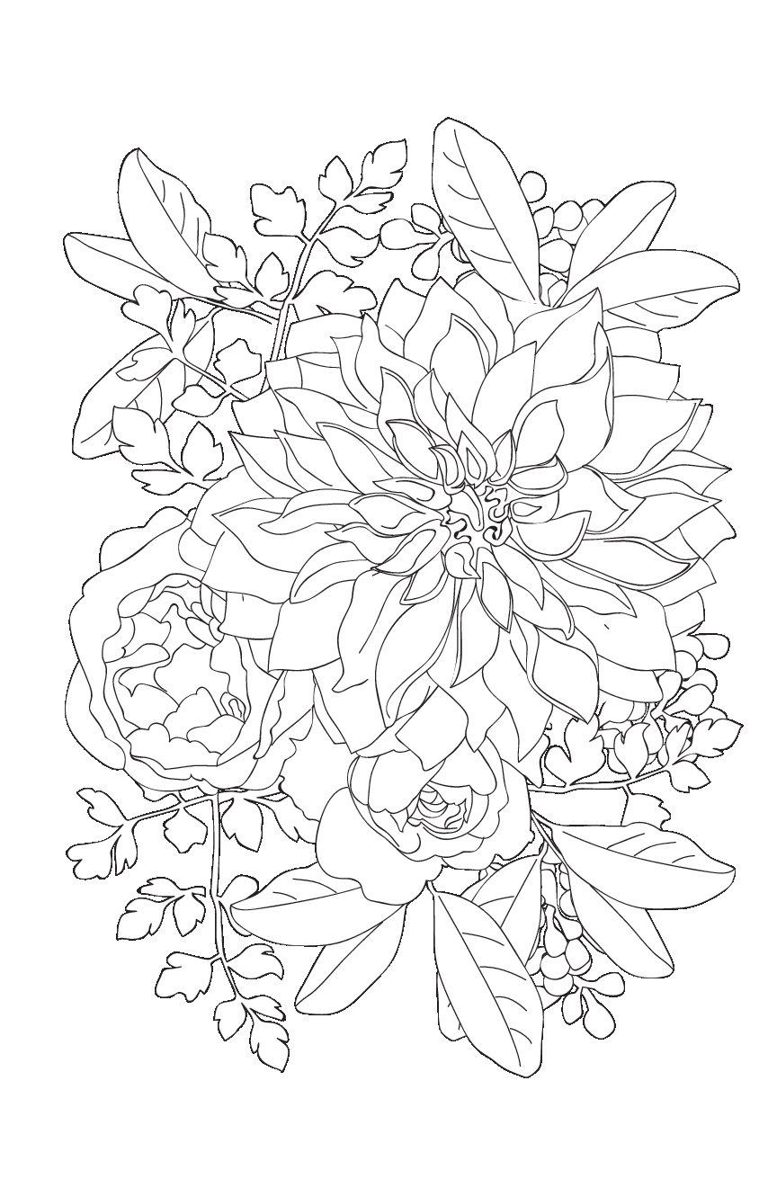 купить книгу волшебные цветы мини раскраска антистресс для