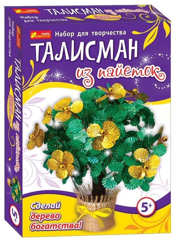 Купить 4741 Талісман з паєток Дерево багатства 15100055Р, Ранок Креатив