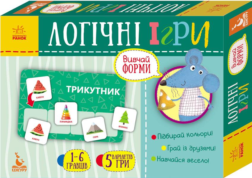Купить Увлекательный досуг для детей, Логічні ігри. Вивчай форми. 24 картки, Ранок