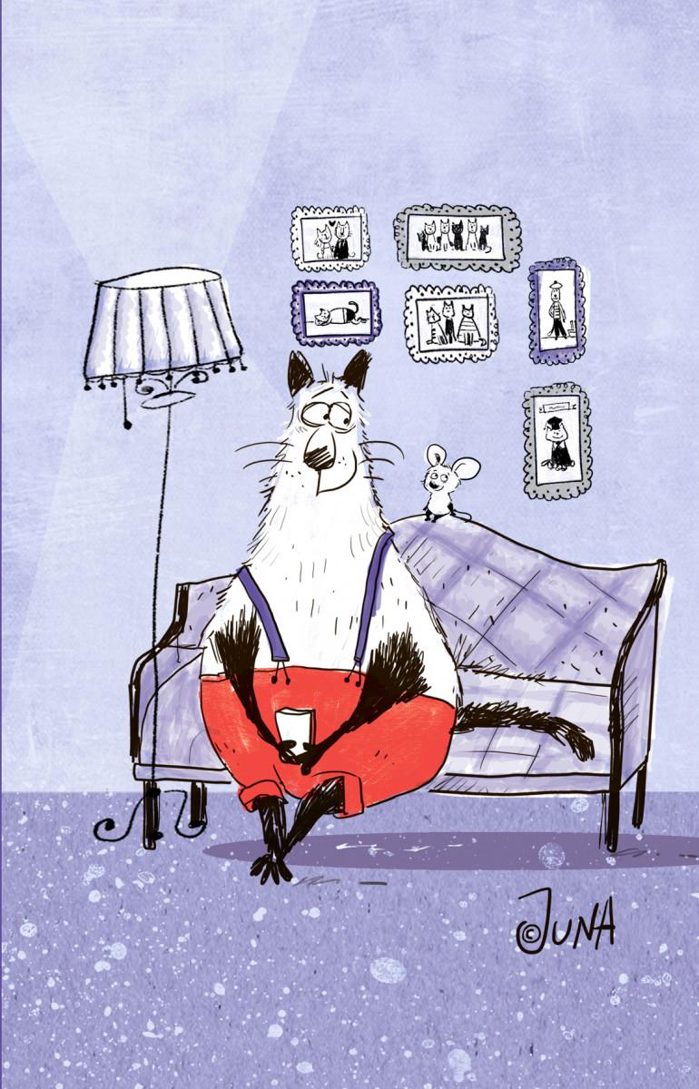 Купить Блокнот, поднимающий настроение (на диване), Эксмо