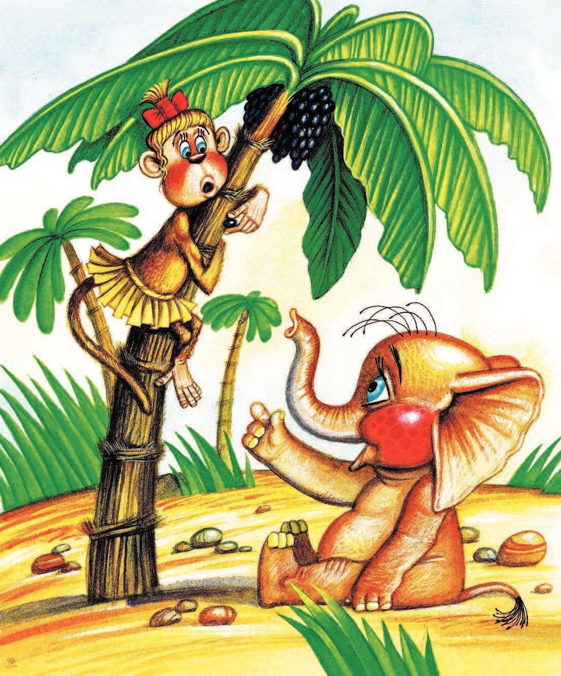 Сказки про обезьян с картинками