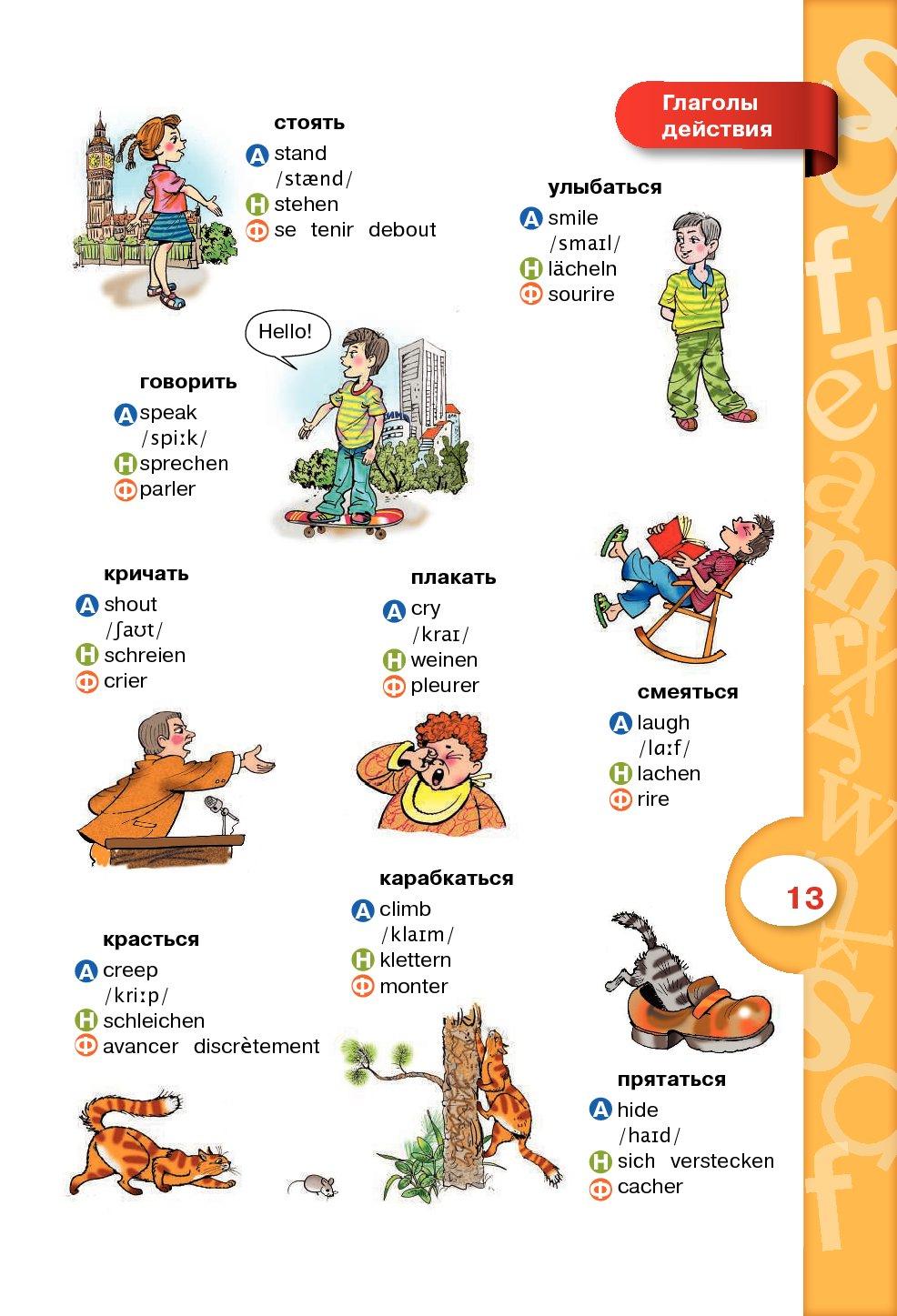 Французские слова в картинках с переводом